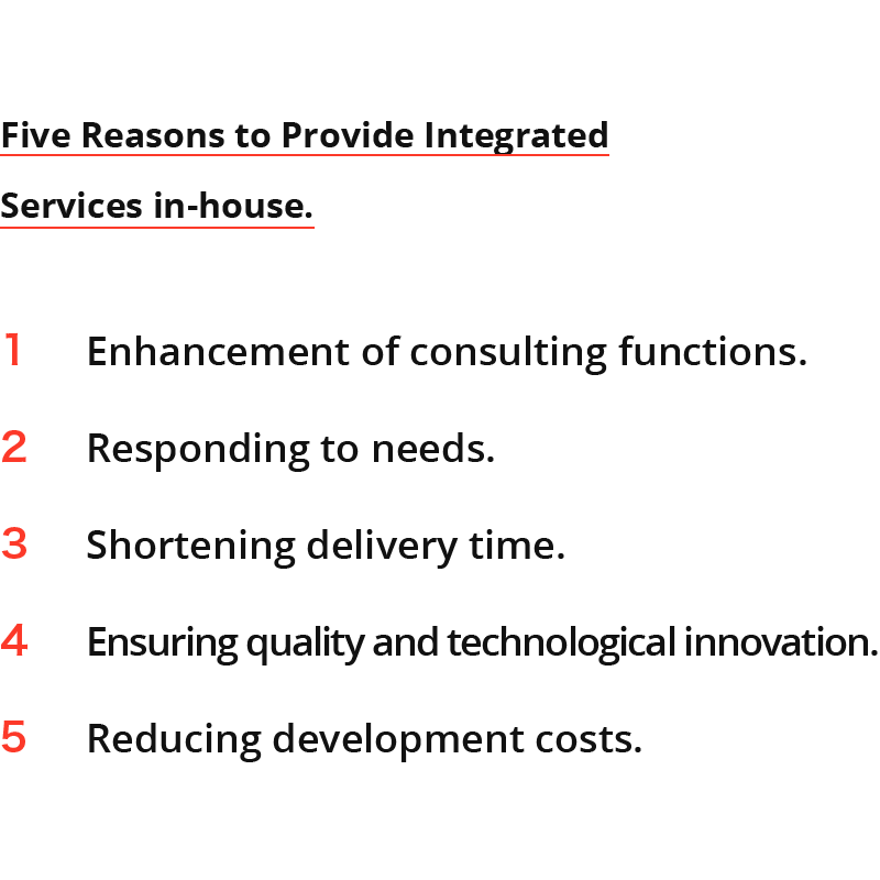 Five Reasons to Provide Integrated Services in-house.